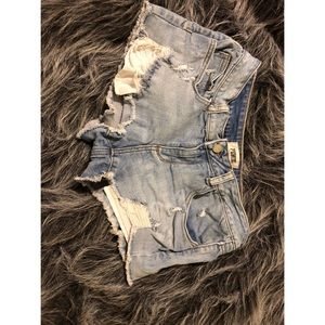 PINK Victoria's Secret Shorts - VS Pink light wash distressed shorts